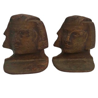 Egyptian Revival Sphinx Bookends - a Pair For Sale