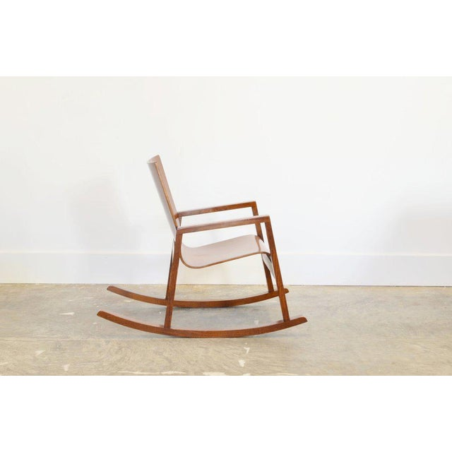 Dondolo rocking chair in oak by Mario Prandina. Manufacturer: Plinio il Giovane