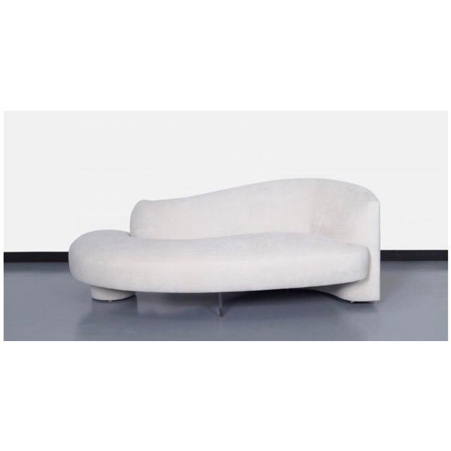 "Vladimir Kagan ""Serpentine"" Sofa W/Lucite Support Bar - Pair Available - Image 10 of 10"