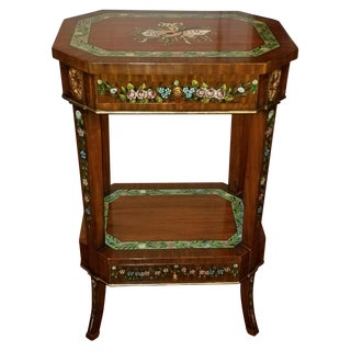 Maitland Smith Hand Painted Side Table