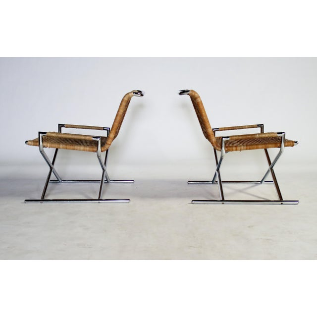 Ward Bennett Brickel Sled Chairs For Sale In Chicago - Image 6 of 11