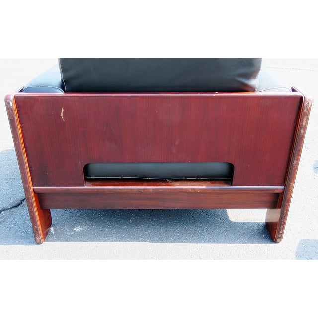 Black Pair of Mid Century Modern Club Chairs For Sale - Image 8 of 12