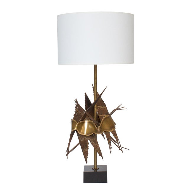 Tom Greene Brutalist Metal Table Lamp For Sale - Image 11 of 11