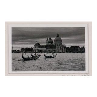 """""""Santa Maria Della Salute"""" Framed B&W Photo C1987 For Sale"""