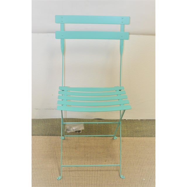 Modern Fermob Bistro Lagoon Blue Chair For Sale - Image 3 of 8