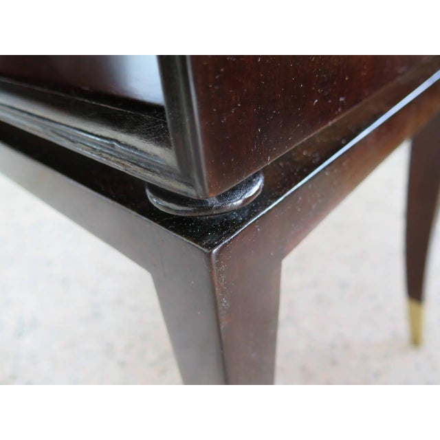 Modern 1950s Modern Tommi Parzinger Magazine Table With Handles For Sale - Image 3 of 7