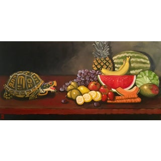 """Stephen McDonough """"The Feast"""" Contemporary Original Oil Painting For Sale"""
