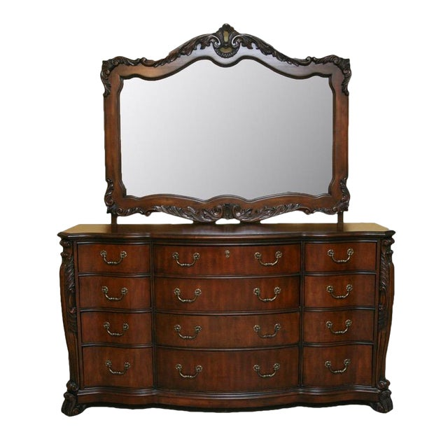 Contemporary Louis XV Style Dresser With Mirror - Image 1 of 9