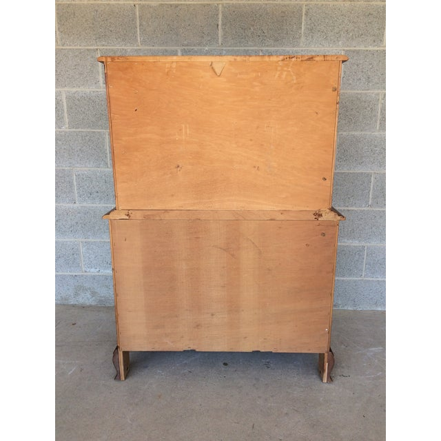 Sumter Furniture Company Solid Maple 9-Drawer Chest on Chest For Sale In Philadelphia - Image 6 of 9