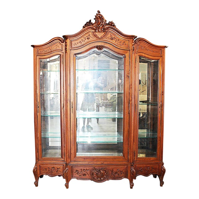 19th Century French Provincial 3-Door Armoire For Sale