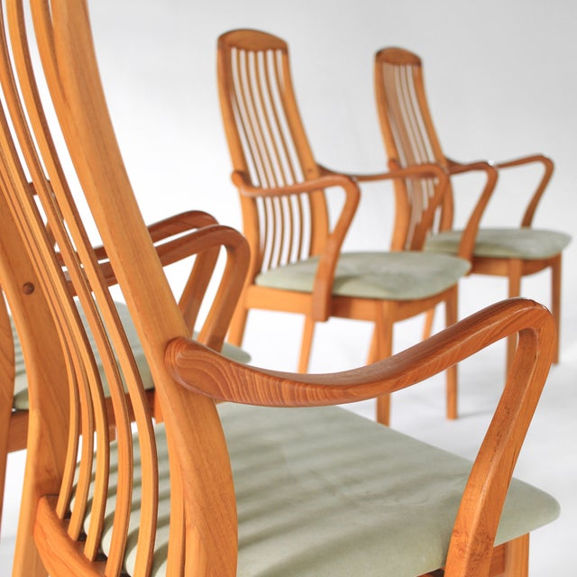 Danish Modern 1960s Mid Century Modern Schou Andersen Teak Dining Chairs - Set of 2 For Sale - Image 3 of 9