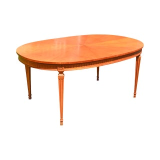 Kindel Milano Directoire Style Sunburst Oval Expandable Dining Table - Opens to 12 Feet