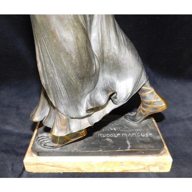 Art-Nouveau Bronze Sculpture Salome ~ Rudolf Marcuse Gladenbeck & Sohn Foundry For Sale - Image 5 of 11
