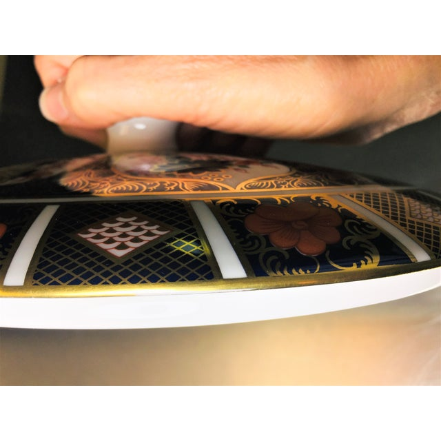 Royal Crown Derby Covered Vegetable Dish in Old Imari Pattern For Sale - Image 10 of 12