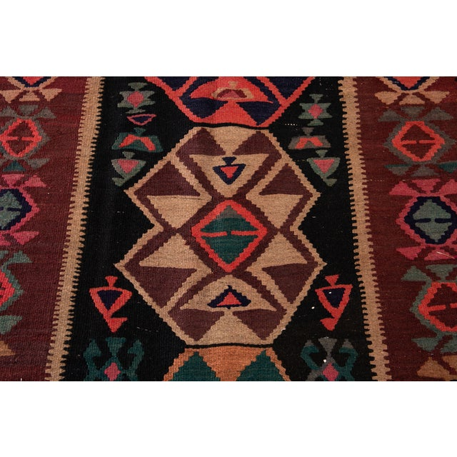 "Mid-20th Century Vintage Kilim Runner Rug 5' 1"" X 12' 2''. For Sale - Image 11 of 13"
