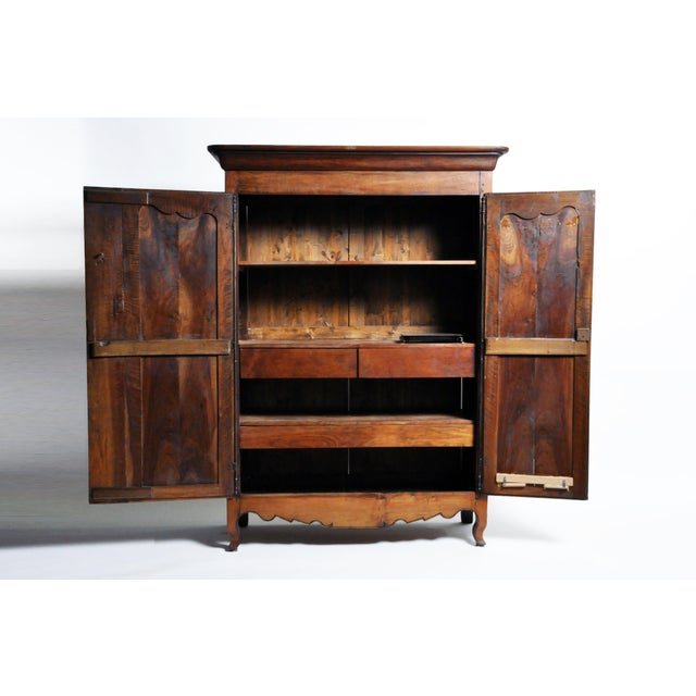 French Walnut Armoire For Sale In Chicago - Image 6 of 13