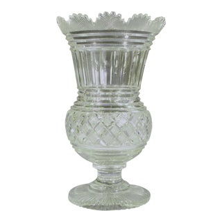 Regency Glass Large Celery Vase, Circa 1820. For Sale