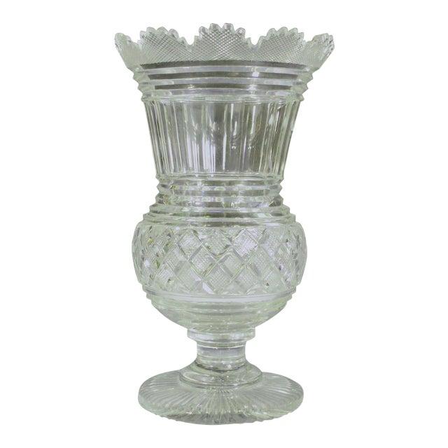 Regency Glass Large Celery Vase, Circa 1820. For Sale
