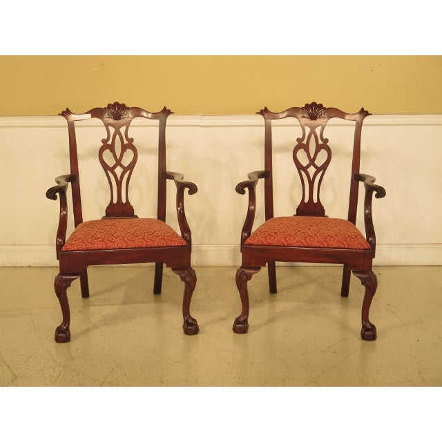 Item: 43475E: Set Of 8 HENKEL HARRIS #112 Ball & Claw Mahogany Dining Room Chairs Age: C.1992 Details: #29 Finish Model...