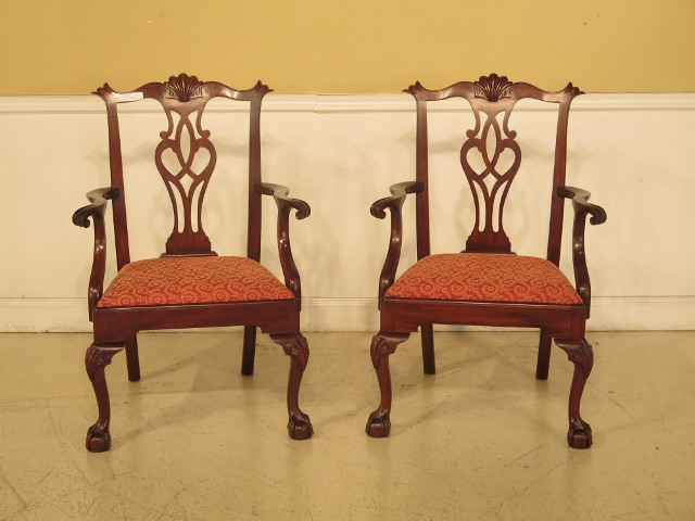43475e Henkel Harris #112 Ball U0026 Claw Mahogany Dining Room Chairs   Set Of 8
