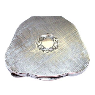 Vintage C.1940's Italian 800 Silver Compact For Sale