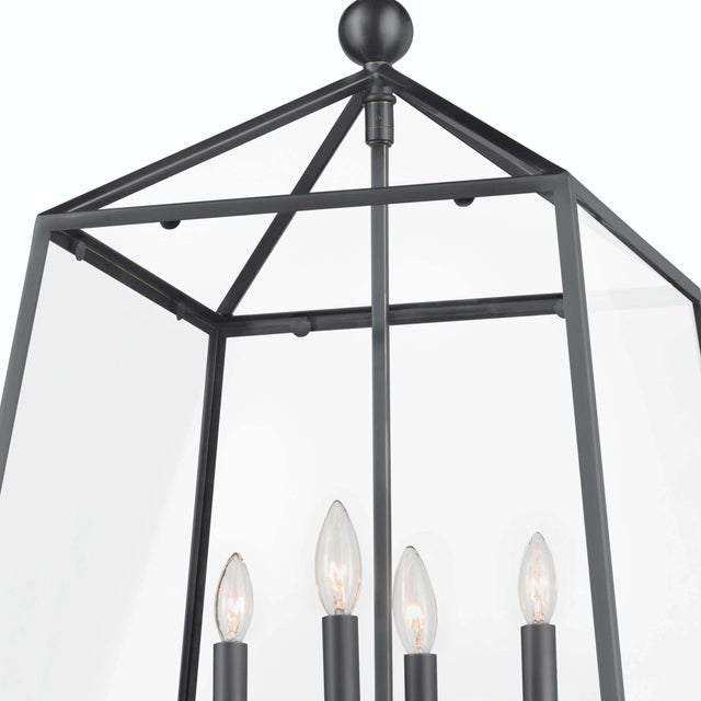 Not Yet Made - Made To Order Cachet Lantern in Oil Rubbed Bronze For Sale - Image 5 of 7