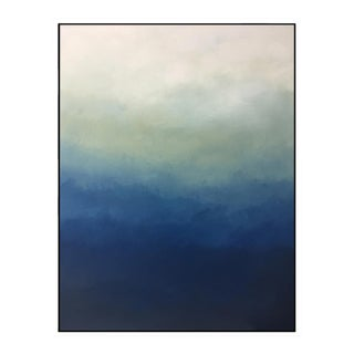 """""""Blue Ombre"""" - Framed Giclee Print 30 x 40 For Sale"""