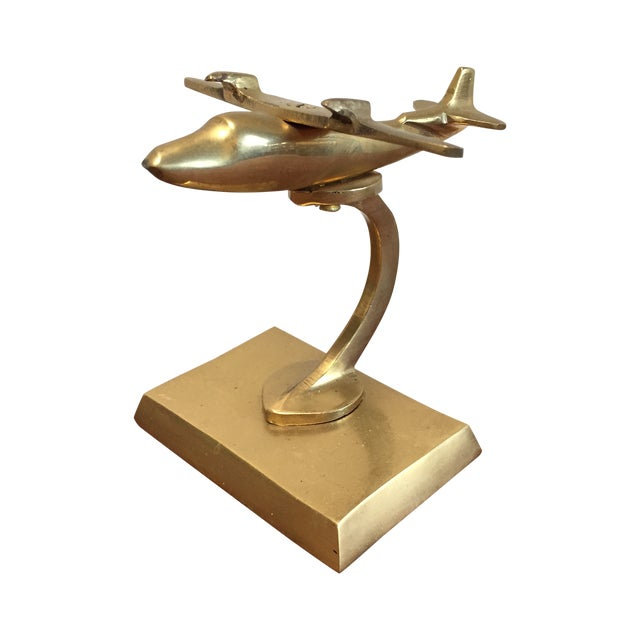 Vintage Brass Airplane - Image 1 of 7