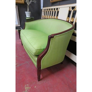 Vintage Antique Style Walnut Hickory Chair Settee Preview