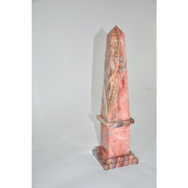 1960s Pink Marble Obelisk For Sale - Image 5 of 5