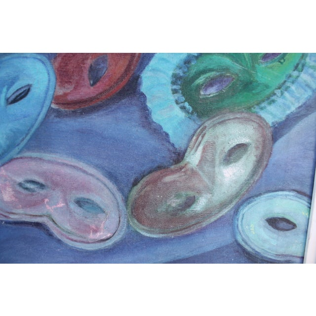 Mid-Century Modern Mid-Century Masks Painting For Sale - Image 3 of 10