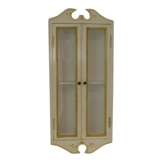 Vintage Italian Wall Mounted 2 Door Curio Display Case