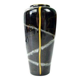 1970s Op Art Ceramic Vase, Scheurich Keramik, Germany For Sale