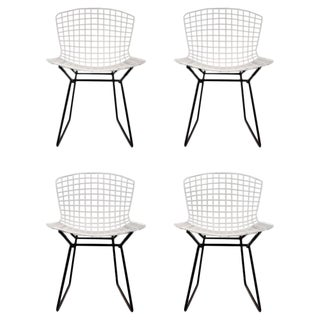 Set of 4 Harry Bertoia for Knoll Vintage Side Chairs For Sale