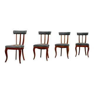 Antique Klismos Style Dining Chairs - Set of 4