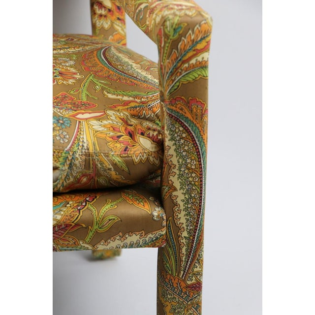 Textile Groovy All Upholstered Bench by Classic Gallery Inc. After Baughman For Sale - Image 7 of 12