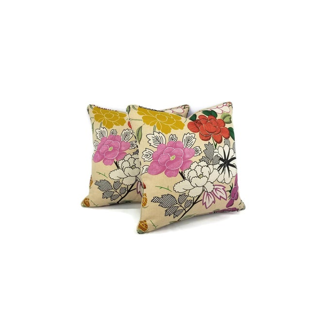 Contemporary Manuel Canovas Misia Linen Printed Self-Welt Pillow Cover For Sale - Image 3 of 8