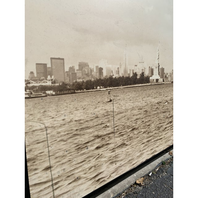 Wood 1970s Cityscape of Lower Manhattan Photograph, Framed For Sale - Image 7 of 11