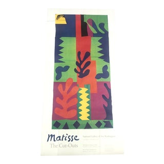 "Vintage ""Matisse: The Cut-Outs"" Exhibition Poster Circa 1977 For Sale"
