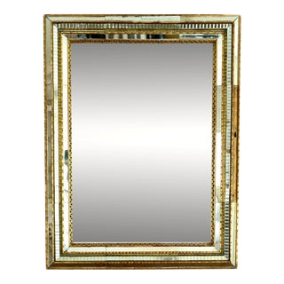 Vintage Venetian Glass Mirror With Original Mirror in Frame For Sale
