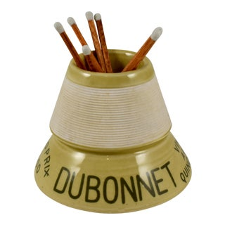 French Bistro Advertising Match Strike & Holder for Dubonnet Liqueur For Sale