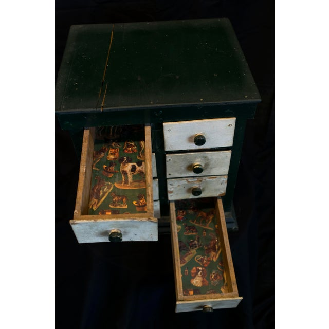 Miniature Green Organizer With Dog Liners For Sale - Image 5 of 7