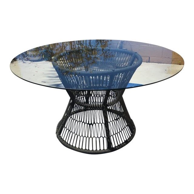 Crate & Barrel Patio Table - Image 1 of 5