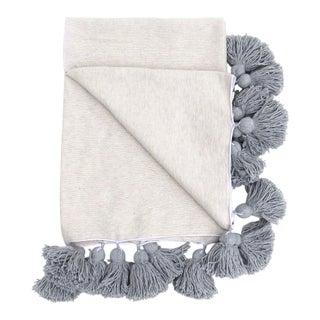 Cotton Pom Pom Blanket For Sale