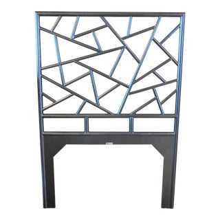 Organic Modern David Francis Furniture Tiffany Twin Black Headboard