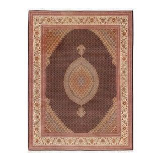 Fine Persian Tabriz-Mahi Rug With Oval Medallion For Sale