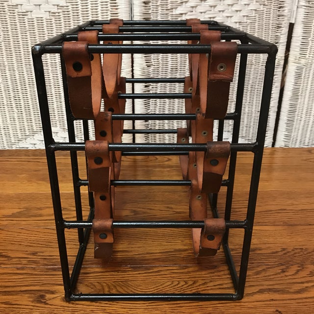 Vintage Rustic Wine Rack For Sale - Image 4 of 8