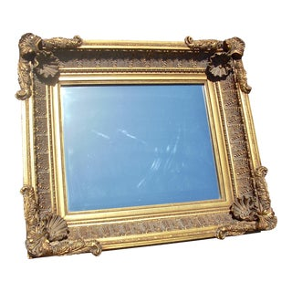 Victorian Gold Gilt Frame Mirror For Sale