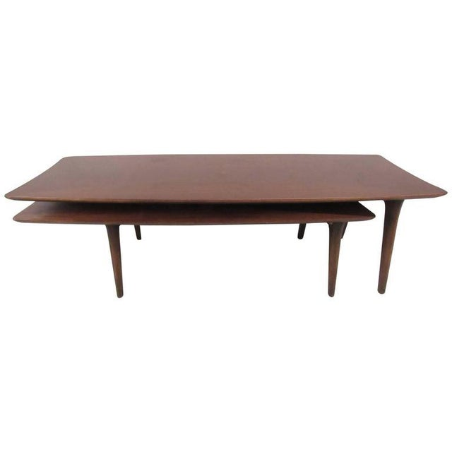 Vintage Modern Two-Tier Pivot Coffee Table For Sale - Image 11 of 11