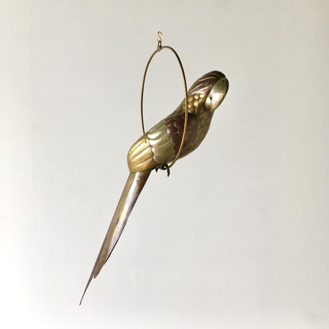 Sergio Bustamante Copper and Brass Parrot by Sergio Bustamante 1960s For Sale - Image 4 of 7